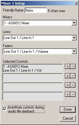 Figure 2, Mixer control setup
